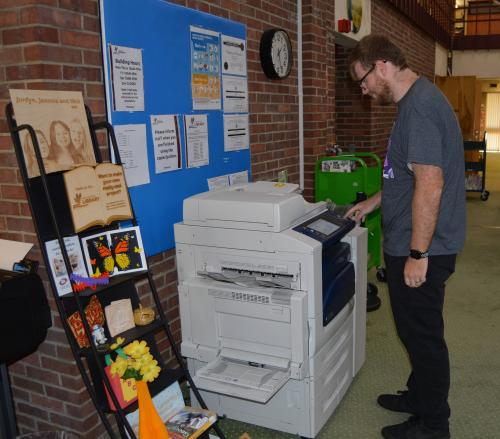 At the Library, you can print from your own device, print from public-use computers, copy, fax, scan or laminate.