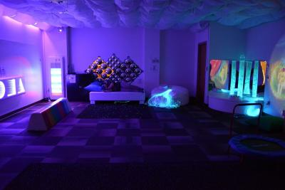 The sensory space includes lots of equipment for folks with a number of neurological issues.